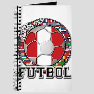 Peru Flag World Cup Futbol Ball with World Flags J