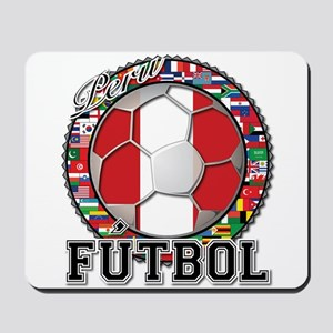 Peru Flag World Cup Futbol Ball with World Flags M