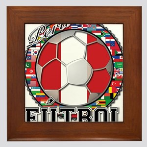 Peru Flag World Cup Futbol Ball with World Flags F