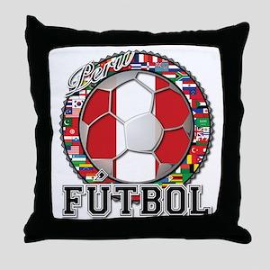 Peru Flag World Cup Futbol Ball with World Flags T