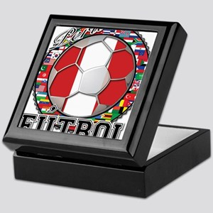 Peru Flag World Cup Futbol Ball with World Flags K
