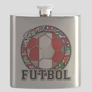Peru Flag World Cup Futbol Ball with World Flags F