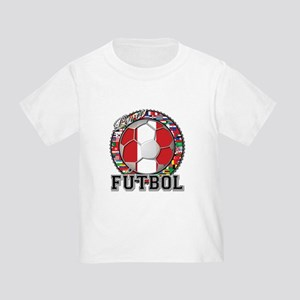 Peru Flag World Cup Futbol Ball with World Flags T