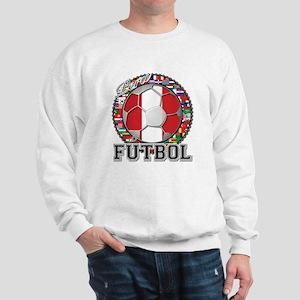 Peru Flag World Cup Futbol Ball with World Flags S