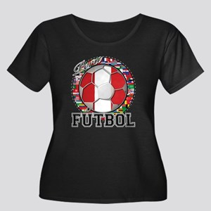 Peru Flag World Cup Futbol Ball with World Flags W