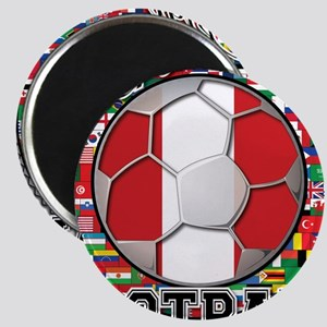 Peru Flag World Cup Football Ball with World Flags