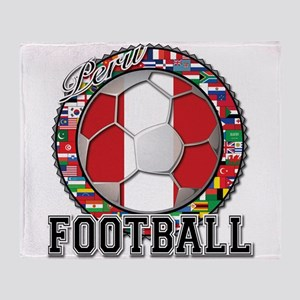 Peru Flag World Cup Football Ball with World Flag