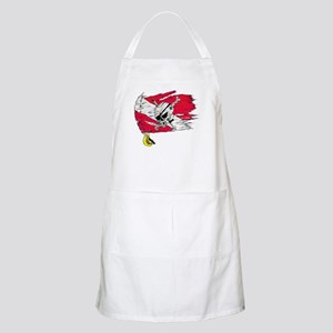 Red Dive Flag Skull BBQ Apron