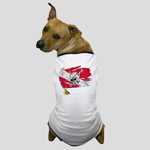 Red Dive Flag Skull Dog T-Shirt