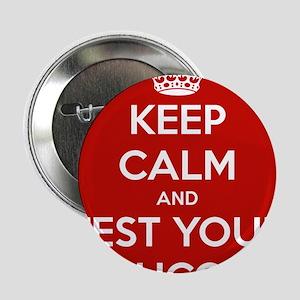 """Diabetes Keep Calm 2.25"""" Button"""