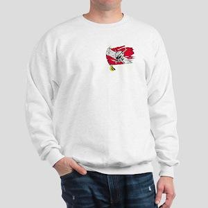 Red Dive Flag Skull Sweatshirt