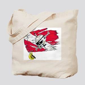 Red Dive Flag Skull Tote Bag