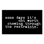 restraints.oval.sticker Sticker (Rectangle 10 pk)