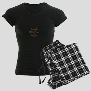 Snuggle With Your Puggle Women's Dark Pajamas