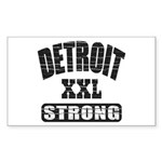 Detroit Strong Sticker (Rectangle 50 pk)