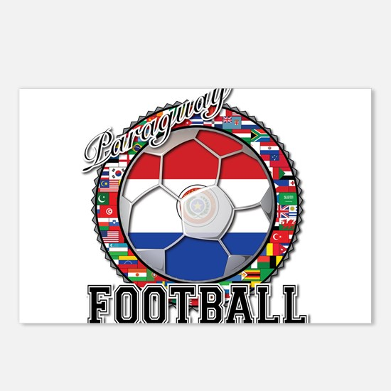 Paraguay Flag World Cup Football Ball with World F