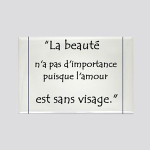 L'amour Sans Visage Rectangle Magnet