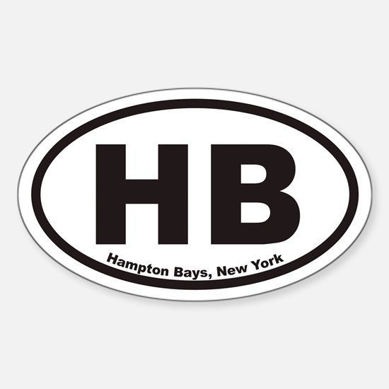 Hampton Bays New York HB Euro Oval Decal