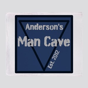 Personalized Man Cave Throw Blanket