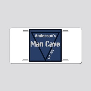 Personalized Man Cave Aluminum License Plate