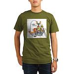 tour de moose Organic Men's T-Shirt (dark)