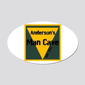 Personalized Man Cave 20x12 Oval Wall Decal