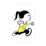 girly Sticker (Rectangle 10 pk)