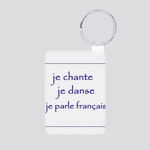 je chante je danse je parle français Aluminum Phot