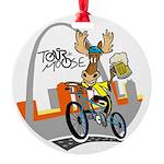 tour de moose Round Ornament