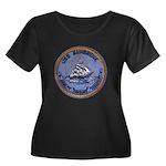 USS BAIN Women's Plus Size Scoop Neck Dark T-Shirt