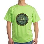 USS BAINBRIDGE Green T-Shirt