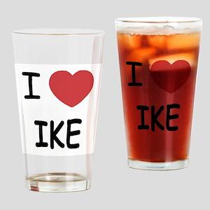 i heart ike Drinking Glass