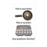 This Is Your Brain Sticker (Rectangle 10 pk)