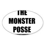 Monster Posse Oval Sticker