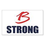 B Strong Sticker (Rectangle 50 pk)