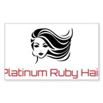 Platinum Ruby Hair Sticker (Rectangle 50 pk)
