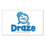 Draze.com Sticker (Rectangle 10 pk)