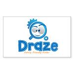 Draze.com Sticker (Rectangle 10 pk)
