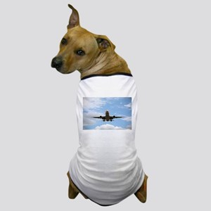 Jet Coming In for a Landing Dog T-Shirt
