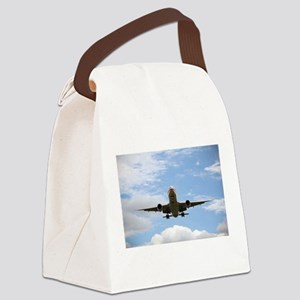 Jet Coming In for a Landing Canvas Lunch Bag