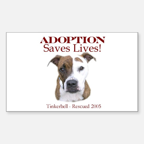 Adoption saves lives Rectangle Decal