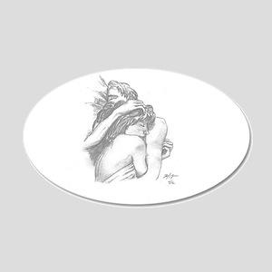 Cuddle 20x12 Oval Wall Decal
