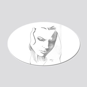 Deep in Thought 20x12 Oval Wall Decal