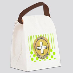 Nurse Practitioner lime and polka dots tote Ca