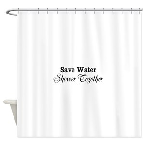 Save Water Shower Curtains