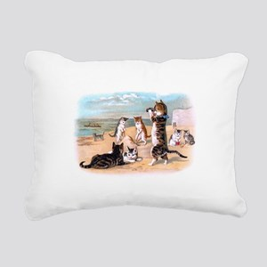 sand cats Rectangular Canvas Pillow