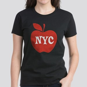 New York CIty Big Red Apple Women's Dark T-Shirt