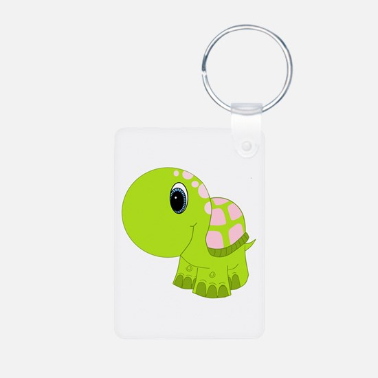 Pink and Green Baby Turtle Keychains