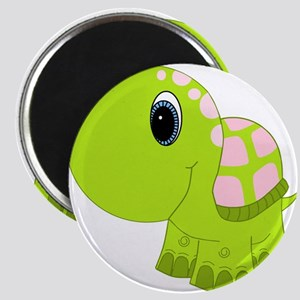 Pink and Green Baby Turtle Magnet
