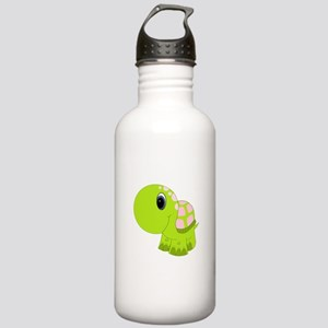 Pink and Green Baby Turtle Stainless Water Bottle